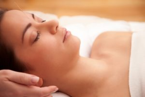 Relax with acupuncture for depression.